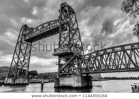 Ascenseur pont rotterdam chemin de fer ingénieur Photo stock © rognar