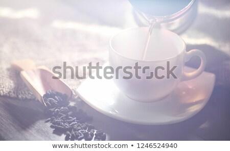 アジア ティーポット 2 カップ 新鮮な 茶 ストックフォト © compuinfoto