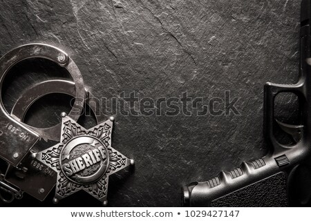 Silver handcuffs Stock photo © remik44992