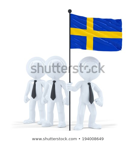 business team holding flag of sweden isolated contains clipping path stock photo © kirill_m