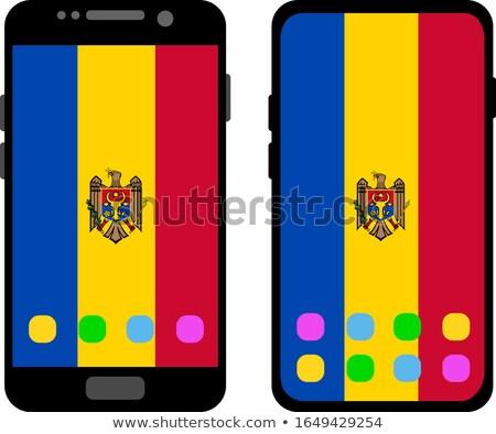 Bandera Moldavia teléfono teléfono signo Foto stock © vepar5