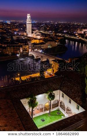 Photo stock: Vue · ville · vérone · rivière · une · populaire