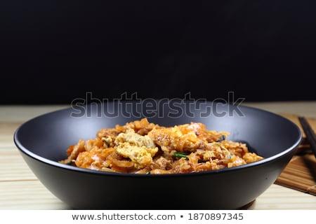 пряный Салат креветок яйцо Тофу азиатских Сток-фото © punsayaporn