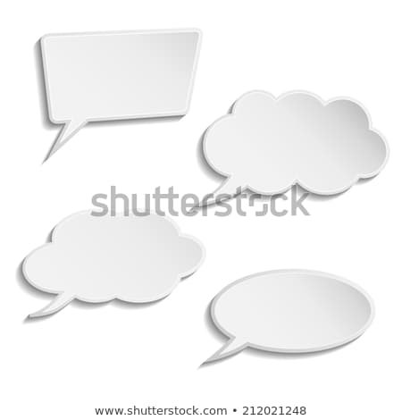 set of four thought bubbles stock photo © mischoko
