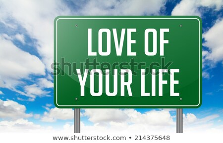 Love of Your Life on Green Highway Signpost. Stock photo © tashatuvango