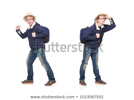 Funny Studenten tragen Safari hat Business Stock foto © Elnur