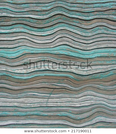 wavy sea blue painted wooden roller shutter background Stock photo © Melvin07