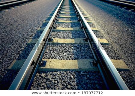 Straight railway perspective Stock photo © smithore