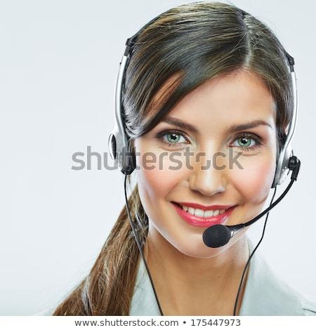 Csinos fiatal ügyfélszolgálat nő közelkép vonzó Stock fotó © dash