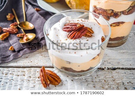 pumpkin cookies with cheese and nuts stock photo © joannawnuk