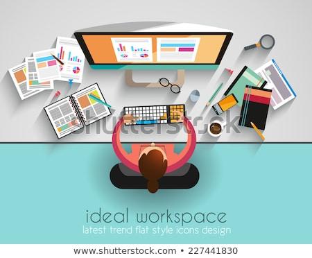 munkaterület · csapatmunka · infografika · ötletelés · stílus · terv - stock fotó © davidarts