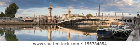 Les Invalides, Pont Alexandre III and the Eiffel Tower in Paris Stock photo © chrisdorney
