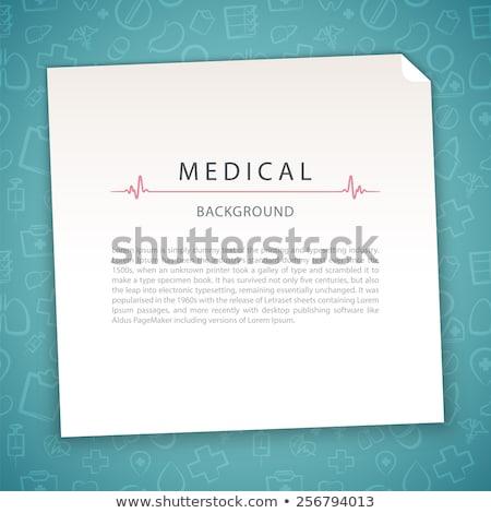 aquamarine medical background with doctor stock photo © voysla