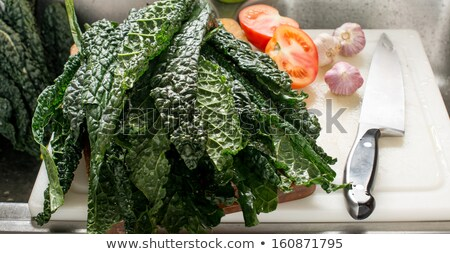 Collard Greens and Kale in a sink Stock photo © tdoes