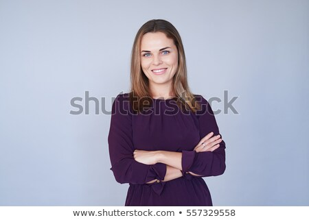 beautiful mid woman posing over white stock photo © stockyimages