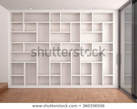 empty wooden shelving Stock photo © ssuaphoto
