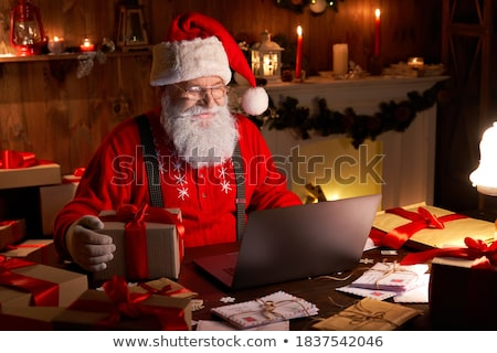 santa claus calling stock photo © pressmaster