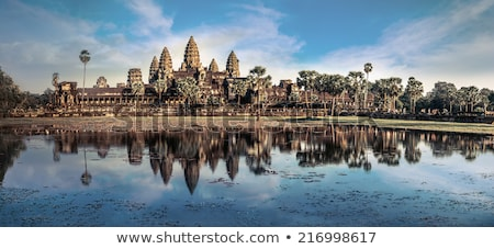 Photo stock: Amazing View Of Angkor Thom Temple Under Blue Sky Angkor Wat