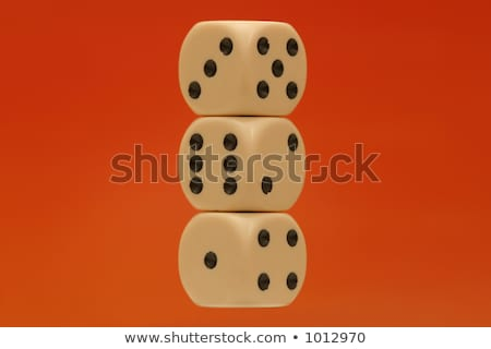 2 Dice - Showing All Numbers (1 of 3) Stock photo © PokerMan