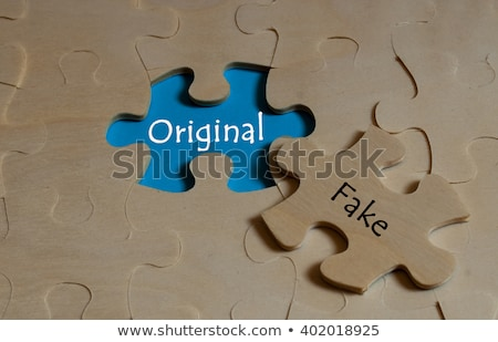 Adoption on Red Puzzles. Stock photo © tashatuvango