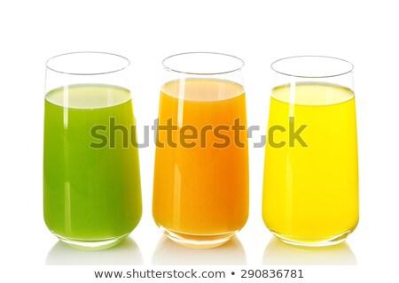 twee · bril · ananas · sap · zomer · drinken - stockfoto © ozaiachin