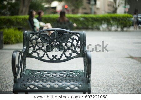 Colorful wrought iron garden furniture Stock photo © ozgur