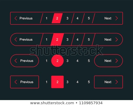 numbers counting square vector pink icon design set stock photo © rizwanali3d