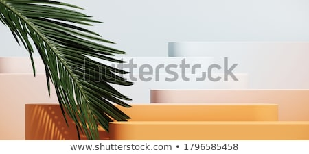 Stock photo: cosmetic cream with green leaves