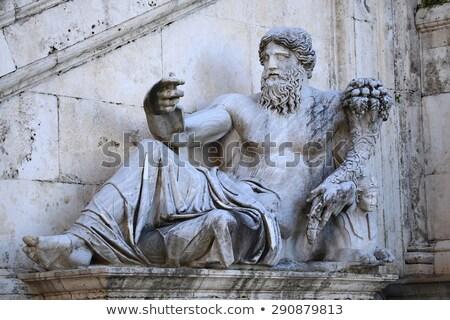 tér · Róma · Olaszország · bejárat · lépcsősor · napfelkelte - stock fotó © vladacanon