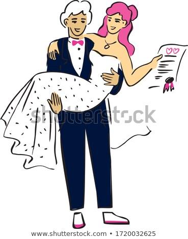 groom signing the contract of his life stock photo © lightpoet