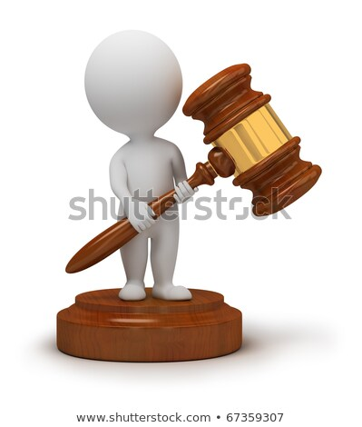 3d small people   auction hammer stock photo © anatolym