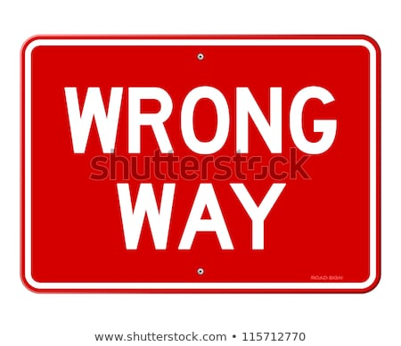 Stop sign wrong way Stock photo © Ustofre9