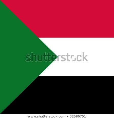 Tér ikon zászló Szudán izolált fehér Stock fotó © MikhailMishchenko