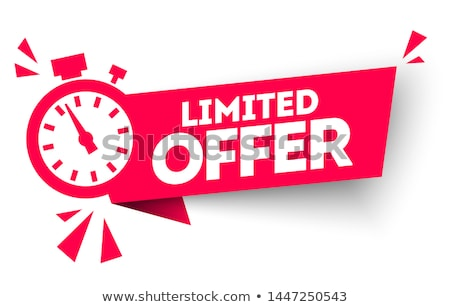 exclusive deal red vector icon design stock photo © rizwanali3d