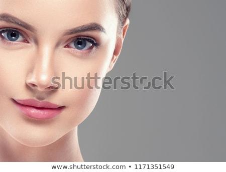 russisch · portret · gras · groene · tand · vriend - stockfoto © andersonrise