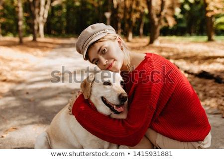 mutlu · kız · tazı · güzel · genç - stok fotoğraf © NeonShot