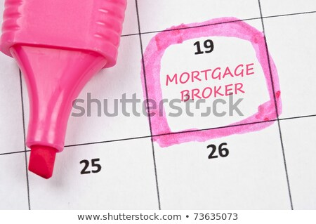 Hipoteca corretor calendário negócio escritório Foto stock © fuzzbones0
