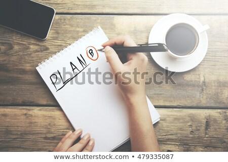 Plan b nota agenda pen business carta Foto d'archivio © fuzzbones0