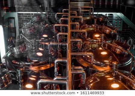 moderna · interior · cervecería · construcción · industrial · líquido - foto stock © jordanrusev