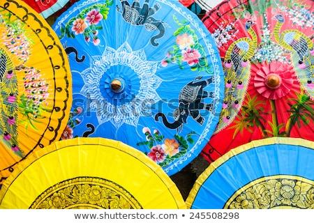 Chinese parasol made of wood Stock photo © shutswis