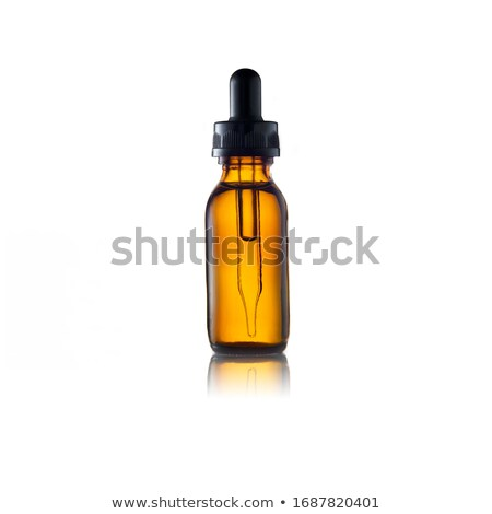 Perfume garrafa branco flor moda azul Foto stock © shutswis