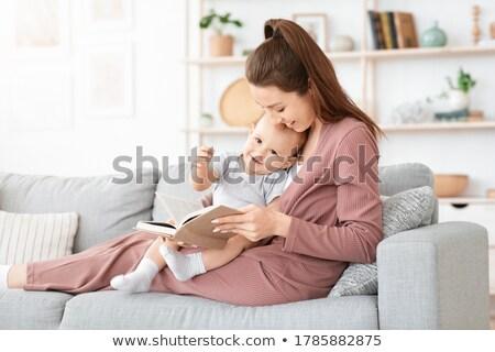 Mère fils lecture fée jeunes conte de fées Photo stock © zapatrzony