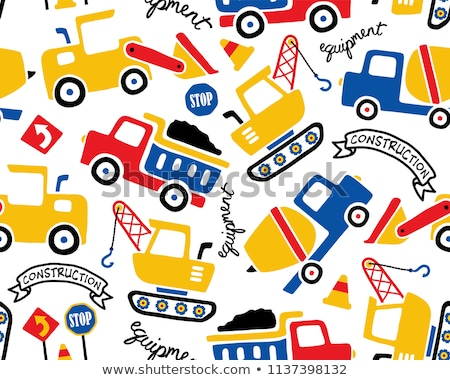 Construction vehicles pattern Stock photo © adamfaheydesigns