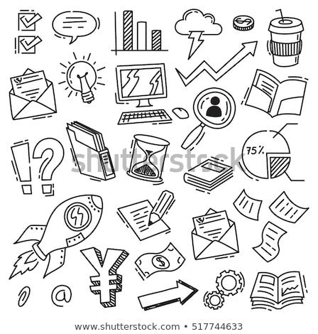 email · ikon · kék · nyíl · illusztráció · bejövő · üzenetek - stock fotó © pakete