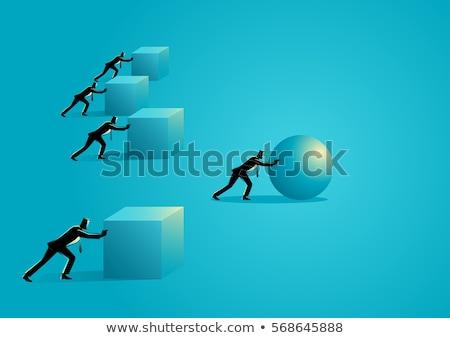 Innovatív versenytárs üzlet nyitva nagy boxkesztyű Stock fotó © Lightsource