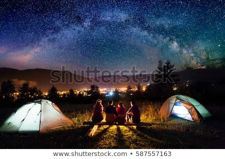 berg · dorp · najaar · landschap · hooiberg · hemel - stockfoto © kotenko