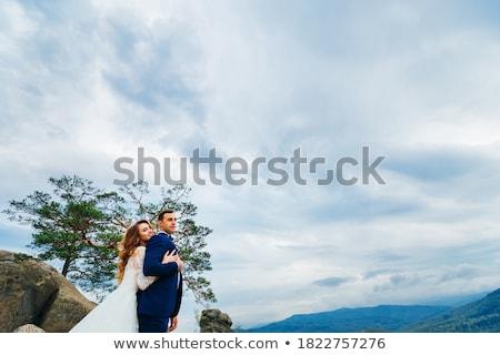 novia · cielo · boda · cara · moda · belleza - foto stock © Paha_L