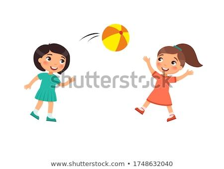 iki · kızlar · esnek · spor · kız - stok fotoğraf © bezikus