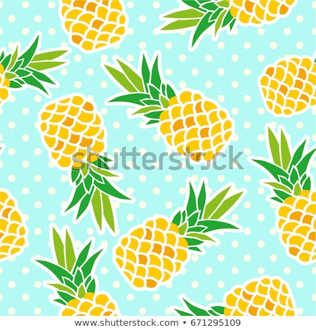 vector collection of seamless repeating pineapple patterns Stock photo © freesoulproduction