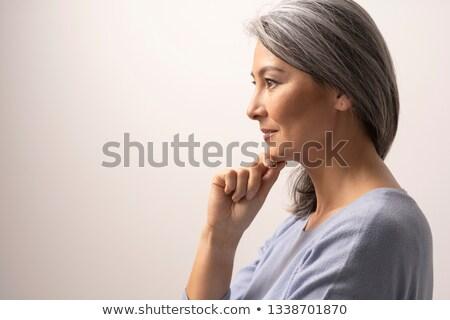 Profil idős nő park mosoly szem Stock fotó © RazvanPhotography